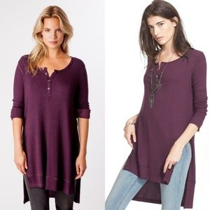 We The Free Purple Gwen Henley Blouse
